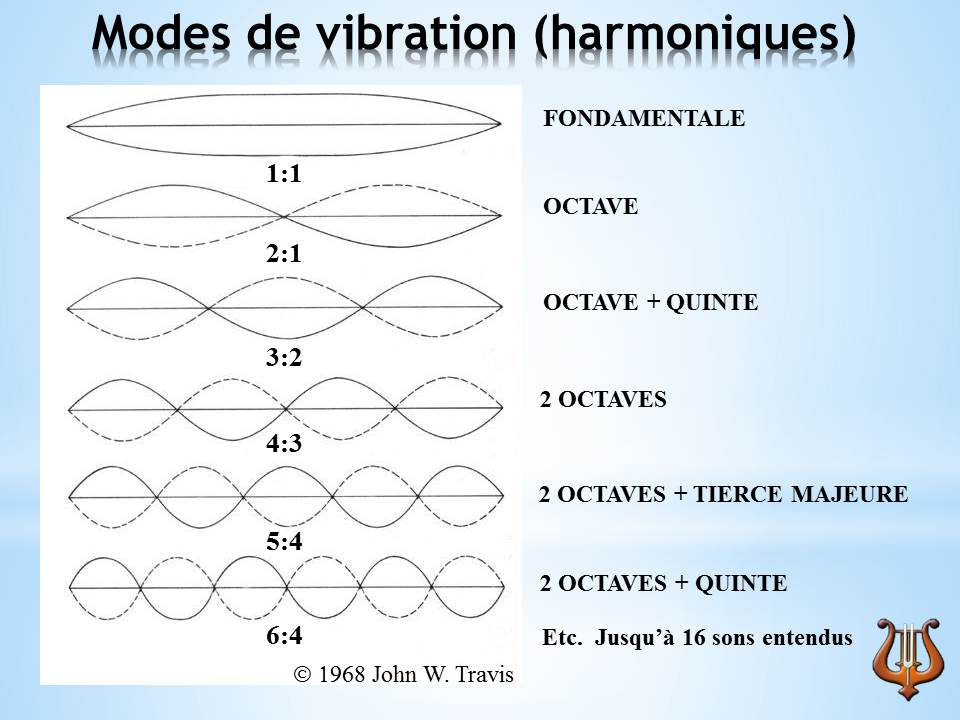 Modes de vibration d'une corde de piano