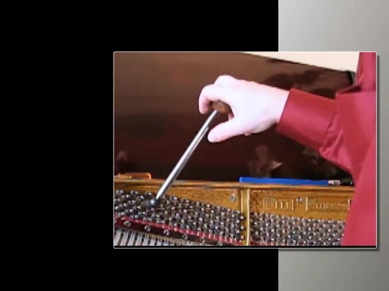 Piano tuning lever manipulation